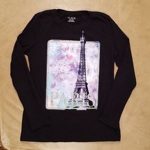Childrens Place Long Sleeve Paris Shirt